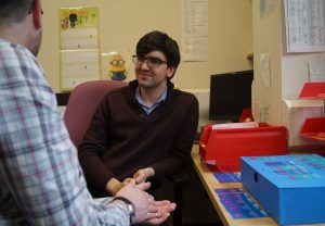 Hospital clinician supporting self-testing