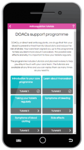 DOAC support programme learning tiles
